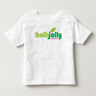 Have a Holly Jolly Christmas Toddler Tee in White