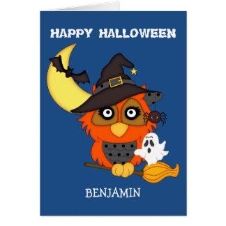Have a Hoot Owl Kids Halloween Card