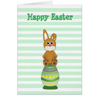 Have a Hoppy Easter Bunny in Egg Personalized Card