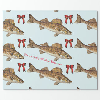 """Have a Jolly Walleye Christmas"" Wrapping Paper"