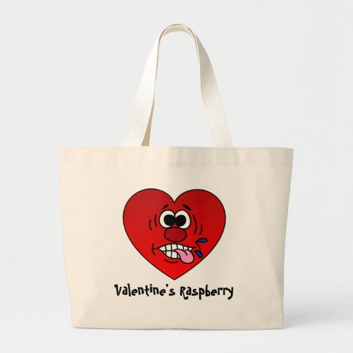 Have a Juicy Raspberry for Valentine's Canvas Bags