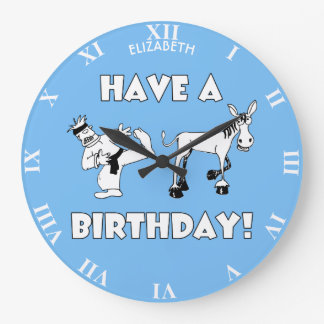 Have A KickAss Birthday Cool Funny Large Clock