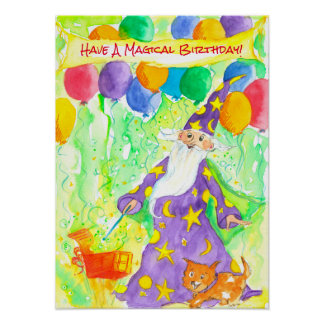 Have A Magical Birthday Kids Poster
