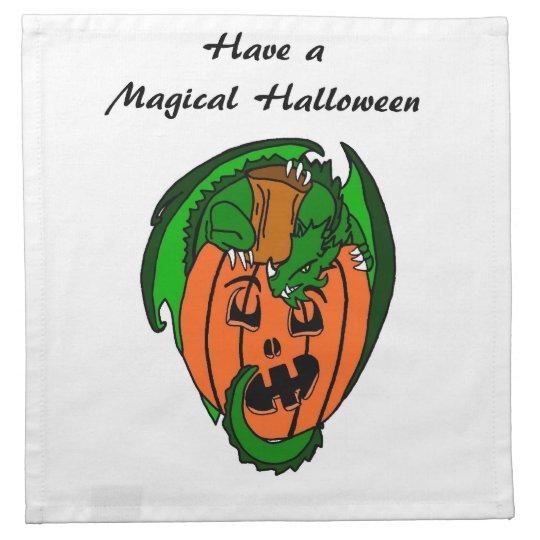 Have A Magical Halloween Dragon Napkin