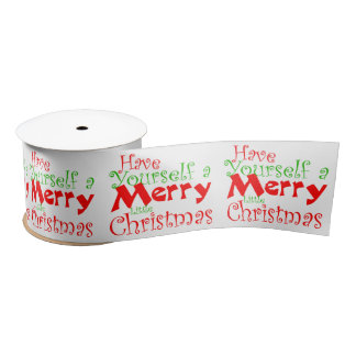 Have a Merry Christmas Holiday Satin Ribbon