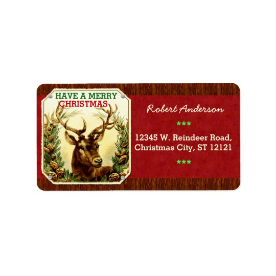 Have a Merry Christmas Reindeer Personalized