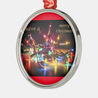 have a merry Christmas Silver-Colored Round Ornament