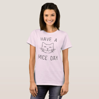 Have a Mice Day with Illustrated Cat T-Shirt