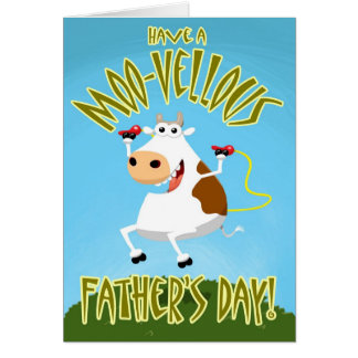 Have a Moo-vellous Father's Day Card