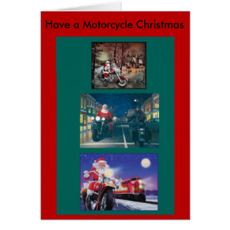 Have a Motorcycle Christmas card