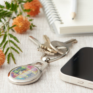 Have a Nice Day and a Better Night Silver-Colored Oval Keychain