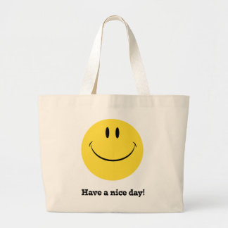 Have a nice day retro smiley face tote :)