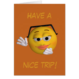 Have a nice trip (smiley) card