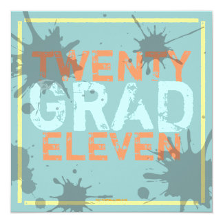 Have a Party Grunge Graduation Party Invitation