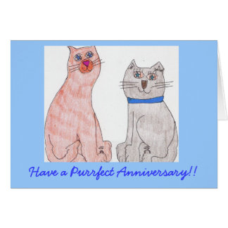 Have a Purrfect Anniversary!! Card