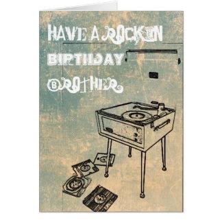 Have a Rockin' Birthday Brother! Birthday Card