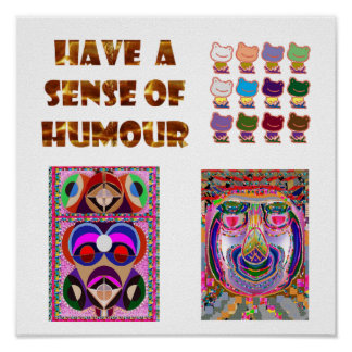 HAVE a sense of HUMOR : Frogs, Jester,  Philospher Poster