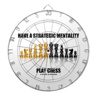 Have A Strategic Mentality Play Chess Dartboard With Darts