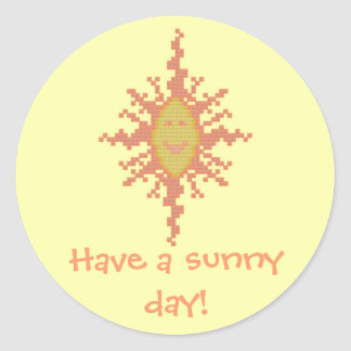 Have a sunny day! Sunburst Sticker