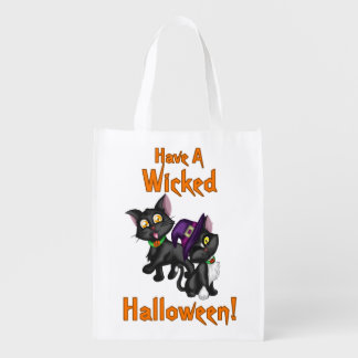 Have a Wicked Halloween! Reusable Grocery Bags