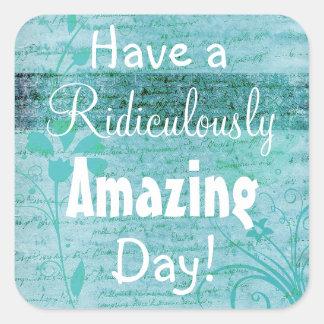 Have an Amazing  Day Blue Mandala Sticker