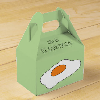 Have an EGG- CELLENT BIRTHDAY! Funny Favor Boxes