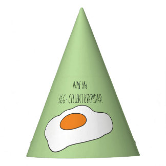 Have an EGG- CELLENT BIRTHDAY! Funny Party Hat