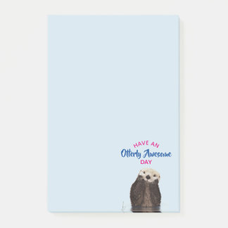 Have an Otterly Awesome Day Cute Otter Photo Post-it Notes