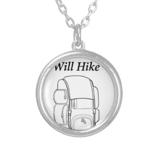 Have Backpack Will Hike Silver Plated Necklace