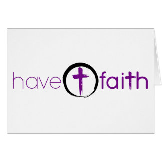 Have Faith Notecard Purple with Circle Cross