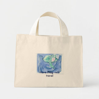 Have Frog -will travel Mini Tote Bag