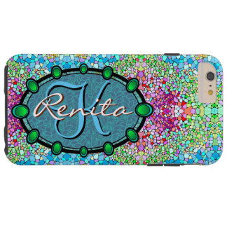 Have fun customizing this multicolor sparkle tough iPhone 6 plus case