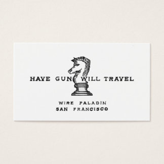 Have Gun Will Travel Business Card