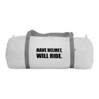 Have Helmet Will Ride Gym Bag