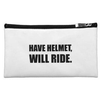 Have Helmet Will Ride Makeup Bags