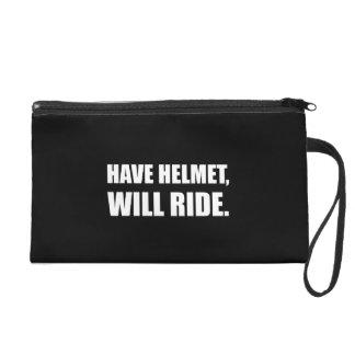 Have Helmet Will Ride White Wristlets