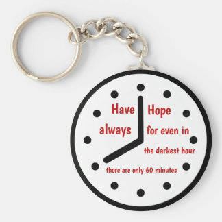 Have hope always key chain