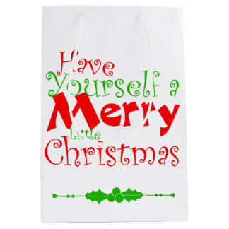 Have Merry Christmas Holiday Medium Gift Bag