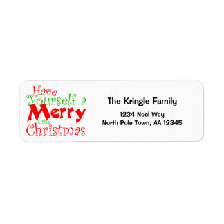 Have Merry Christmas Holiday Return Address Label