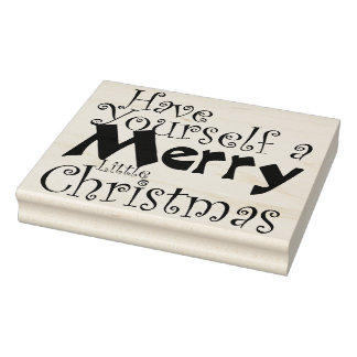 Have Merry Christmas Holiday Rubber Stamp