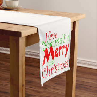 Have Merry Christmas Holiday Tablerunner Short Table Runner
