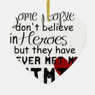 Have never met my mimi ceramic heart ornament