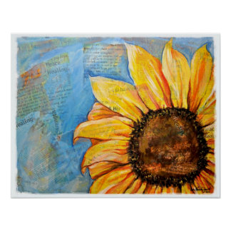 Have No Fear Sunflower Poster