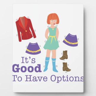 Have Options Plaque