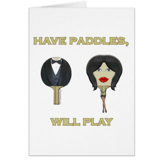 Have Paddles Ping Pong Note Card