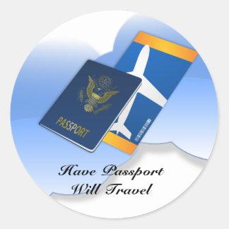 Have Passport, Will Travel Classic Round Sticker
