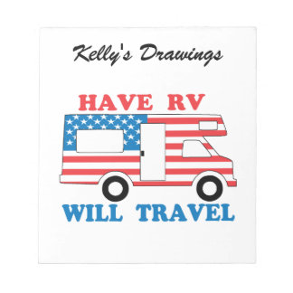 Have RV Will Travel America Notepads