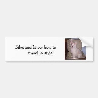 Have Siberian, will travel Car Bumper Sticker