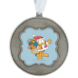 Have You Been Good? Scalloped Pewter Ornament