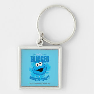 Have You Hugged a Monster Today Silver-Colored Square Keychain